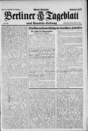 Berliner Tageblatt und Handels-Zeitung vom 28.05.1923