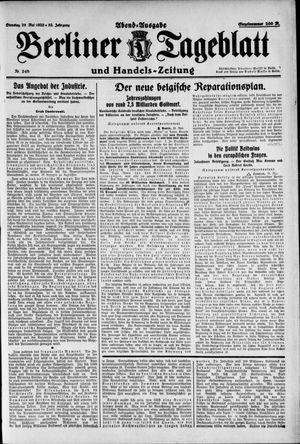 Berliner Tageblatt und Handels-Zeitung vom 29.05.1923