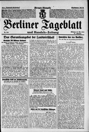 Berliner Tageblatt und Handels-Zeitung on May 30, 1923