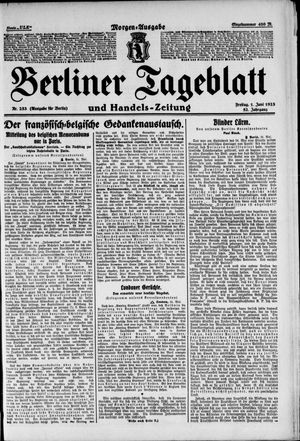 Berliner Tageblatt und Handels-Zeitung vom 01.06.1923