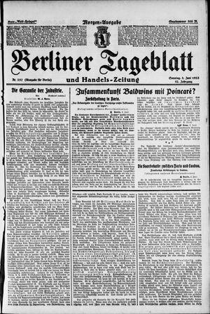 Berliner Tageblatt und Handels-Zeitung vom 03.06.1923