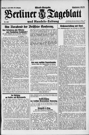 Berliner Tageblatt und Handels-Zeitung vom 05.06.1923