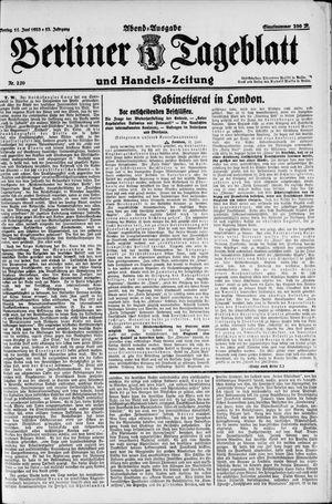 Berliner Tageblatt und Handels-Zeitung vom 11.06.1923