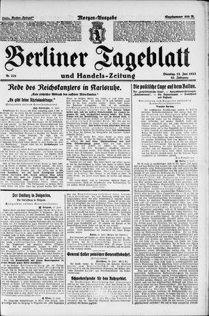 Berliner Tageblatt und Handels-Zeitung vom 12.06.1923