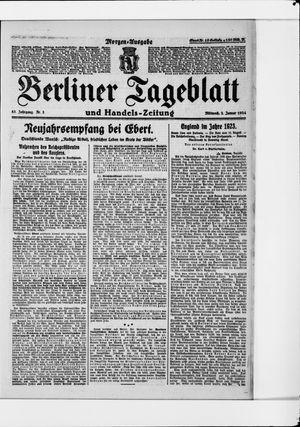 Berliner Tageblatt und Handels-Zeitung vom 02.01.1924