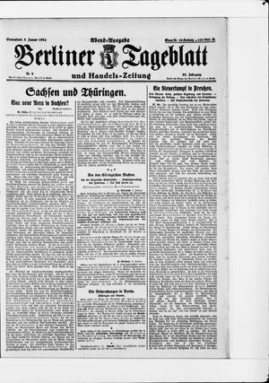 Berliner Tageblatt und Handels-Zeitung vom 05.01.1924