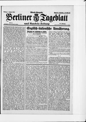 Berliner Tageblatt und Handels-Zeitung vom 07.01.1924