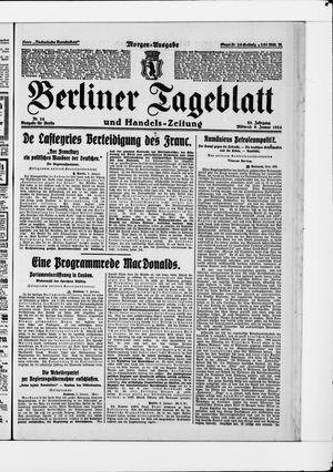 Berliner Tageblatt und Handels-Zeitung vom 09.01.1924