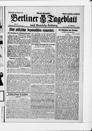 Berliner Tageblatt und Handels-Zeitung vom 10.01.1924