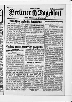 Berliner Tageblatt und Handels-Zeitung vom 11.01.1924