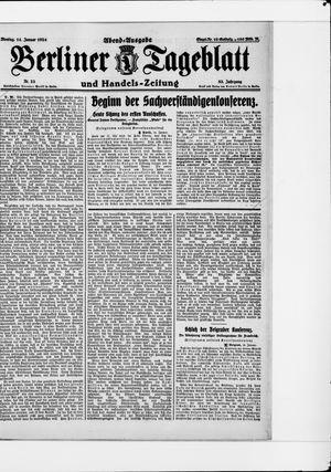 Berliner Tageblatt und Handels-Zeitung on Jan 14, 1924
