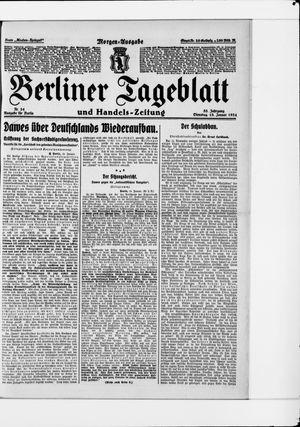 Berliner Tageblatt und Handels-Zeitung vom 15.01.1924