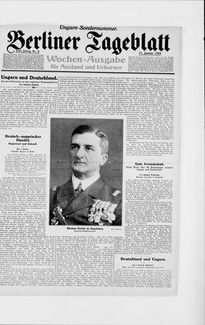 Berliner Tageblatt und Handels-Zeitung vom 17.01.1924
