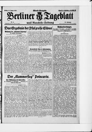 Berliner Tageblatt und Handels-Zeitung vom 18.01.1924
