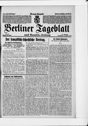 Berliner Tageblatt und Handels-Zeitung vom 19.01.1924