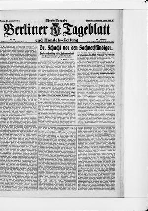 Berliner Tageblatt und Handels-Zeitung vom 21.01.1924