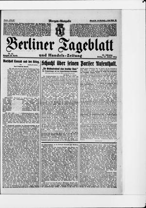 Berliner Tageblatt und Handels-Zeitung vom 25.01.1924