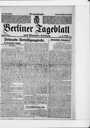 Berliner Tageblatt und Handels-Zeitung vom 27.01.1924