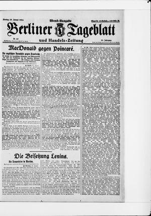 Berliner Tageblatt und Handels-Zeitung vom 28.01.1924