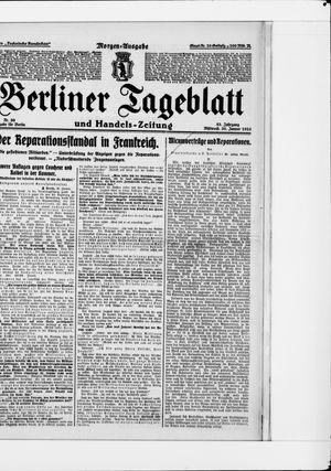 Berliner Tageblatt und Handels-Zeitung vom 30.01.1924