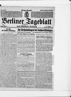 Berliner Tageblatt und Handels-Zeitung vom 01.02.1924