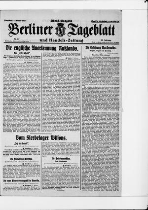 Berliner Tageblatt und Handels-Zeitung vom 02.02.1924