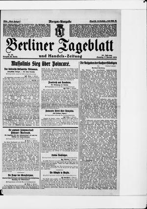 Berliner Tageblatt und Handels-Zeitung vom 03.02.1924