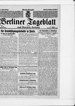 Berliner Tageblatt und Handels-Zeitung vom 05.02.1924
