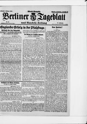Berliner Tageblatt und Handels-Zeitung vom 06.02.1924