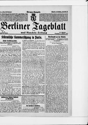 Berliner Tageblatt und Handels-Zeitung vom 09.02.1924