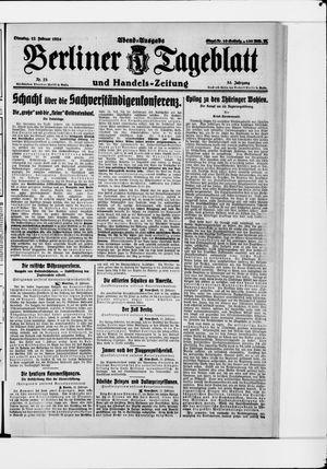 Berliner Tageblatt und Handels-Zeitung vom 12.02.1924