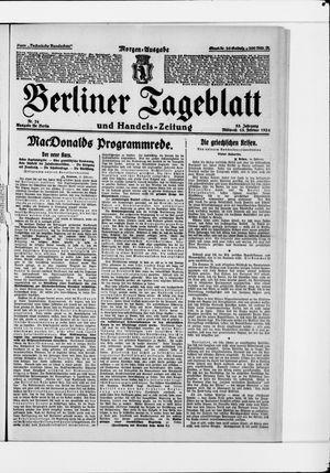 Berliner Tageblatt und Handels-Zeitung vom 13.02.1924