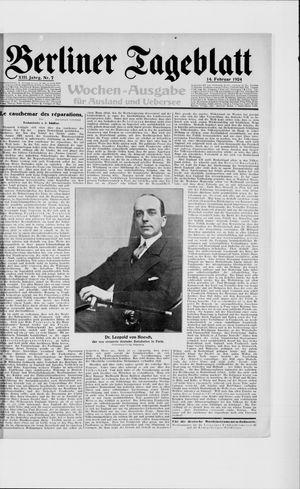 Berliner Tageblatt und Handels-Zeitung vom 14.02.1924