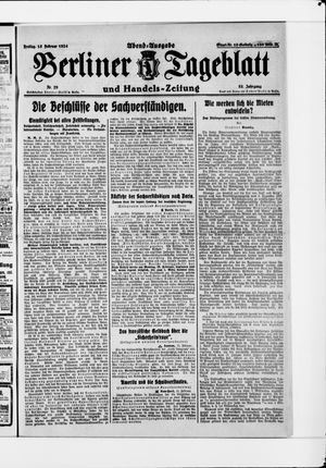 Berliner Tageblatt und Handels-Zeitung vom 15.02.1924
