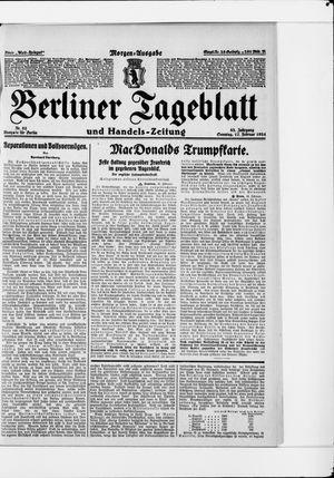 Berliner Tageblatt und Handels-Zeitung vom 17.02.1924