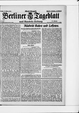 Berliner Tageblatt und Handels-Zeitung on Feb 18, 1924