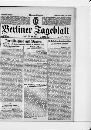 Berliner Tageblatt und Handels-Zeitung vom 19.02.1924