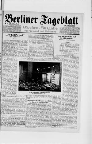 Berliner Tageblatt und Handels-Zeitung vom 21.02.1924