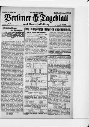 Berliner Tageblatt und Handels-Zeitung vom 23.02.1924