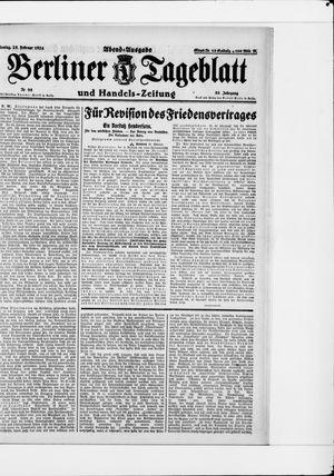 Berliner Tageblatt und Handels-Zeitung on Feb 25, 1924