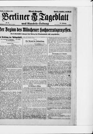 Berliner Tageblatt und Handels-Zeitung vom 26.02.1924