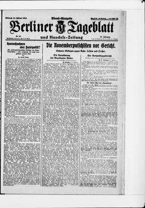 Berliner Tageblatt und Handels-Zeitung vom 27.02.1924