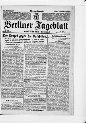 Berliner Tageblatt und Handels-Zeitung vom 28.02.1924