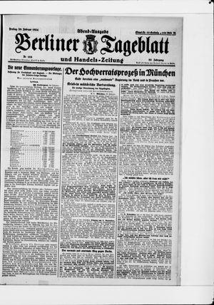 Berliner Tageblatt und Handels-Zeitung vom 29.02.1924