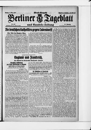 Berliner Tageblatt und Handels-Zeitung vom 03.03.1924