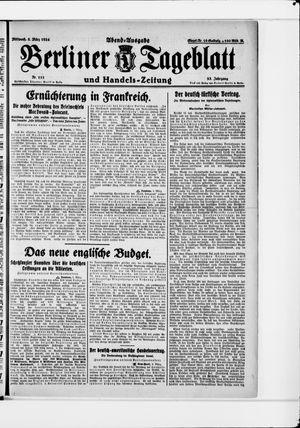 Berliner Tageblatt und Handels-Zeitung vom 05.03.1924