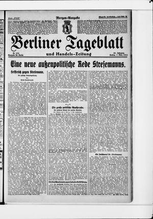 Berliner Tageblatt und Handels-Zeitung vom 07.03.1924
