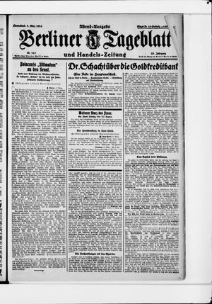 Berliner Tageblatt und Handels-Zeitung vom 08.03.1924
