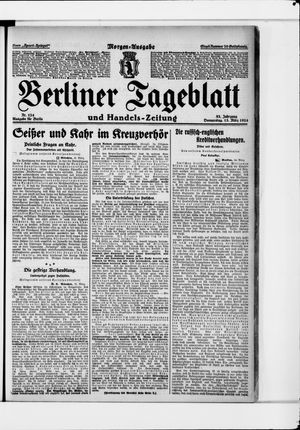 Berliner Tageblatt und Handels-Zeitung vom 13.03.1924