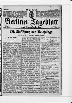 Berliner Tageblatt und Handels-Zeitung vom 14.03.1924